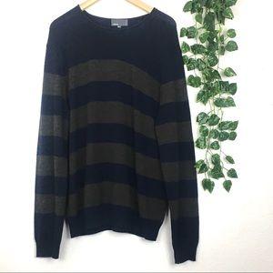 Vince. Men's Wool Camel Blend Striped Sweater XL
